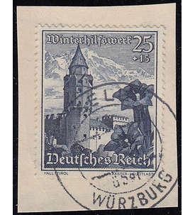 Deutsches Reich mit Nr. 682 auf Briefstück Briefmarke