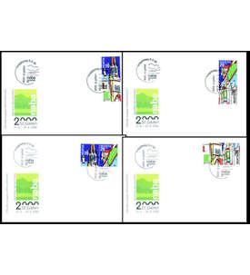 Schweiz Zusammendrucke auf 4 Ersttagsbriefen Briefmarke