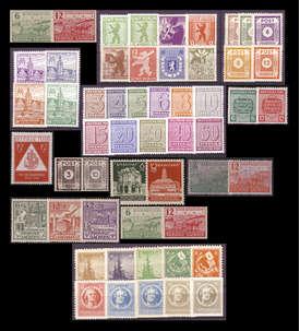SBZ postfrisch mit Nr. 92-99AX/BX Briefmarke