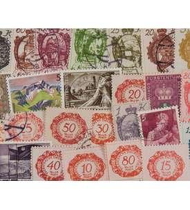 400 Liechtenstein Briefmarke