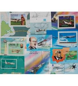 50 Flugzeuge-Blocks Briefmarke