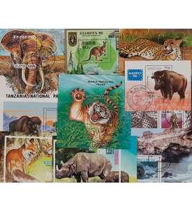 10 Tiere-Blocks Briefmarke