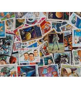 100 Astronauten Briefmarke