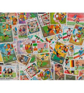 100 Fußball Briefmarke