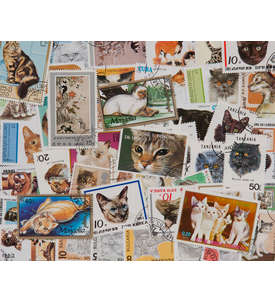 200 Katzen Briefmarke