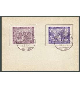 SBZ Nr. 198-199 gestempelt auf Karte mit Ersttagssonderst Briefmarke