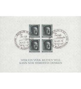 Deutsches Reich Block 8 mit Sonderstempel