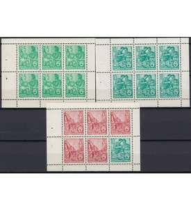 DDR Heftchenblätter 7-9 postfrisch Briefmarke