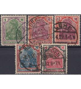 Deutsches Reich Nr. 150-153,198 gestempelt