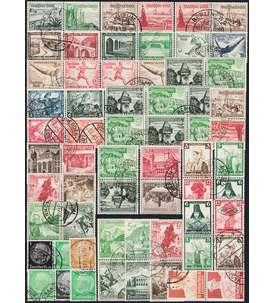 Deutsches Reich Zusammendrucke gestempelt Briefmarke