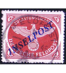 Deutsches Reich Feldpost Nr. 10B gestempelt Briefmarke