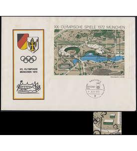 BRD Bund Block 7 I gestempelt auf Sonderbeleg der Eröffnungsfeier Briefmarke