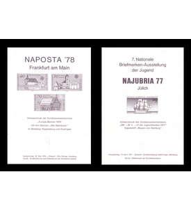 BRD Bund 2 Schwarzdrucke Briefmarke