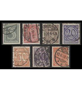 Deutsches Reich Dienstmarke Nr.16-22 gestempelt in Bedarfserhaltung Briefmarke