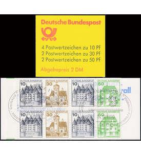 BRD Bund Markenheft 22II Letterset mit Sonderstempel Briefmarke
