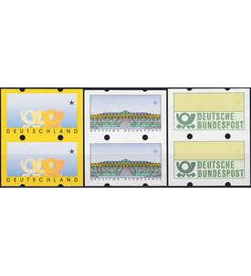 BRD Bund ATM 3 Leerfeldpaare postfrisch ** mit rückseitiger Zählnummer Briefmarke