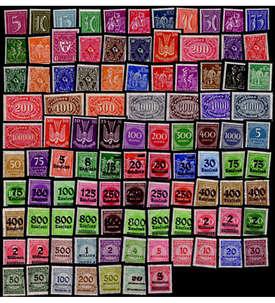 Deutsches Reich Inflation postfrisch ** 100 verschiedene Marken Briefmarke