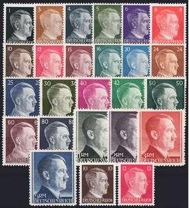 Deutsches Reich Nr. 781-802A,826-27