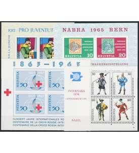 Schweiz Block 18,19,20,22 postfrisch ** Briefmarke