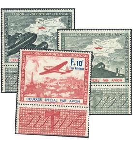 Deutsche Besetzung Frankreich Nr. IIa+b/III postfrisch Randsatz Briefmarke