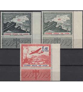 Deutsche Besetzung Frankreich Nr. IIa+b/III postfrisch Eckrandsatz Briefmarke
