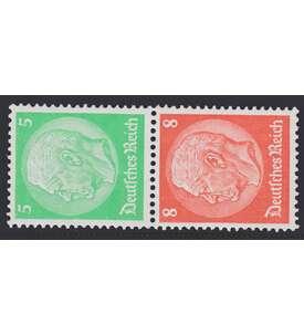 Deutsches Reich Zusammendruck S119 postfrisch Hindenburg 1934/1936 (5+8) Briefmarke