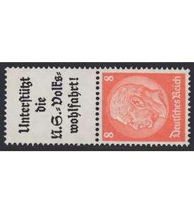 Deutsches Reich Zusammendruck S131 postfrisch Hindenburg 1934/1936 (A8.1+8) Briefmarke