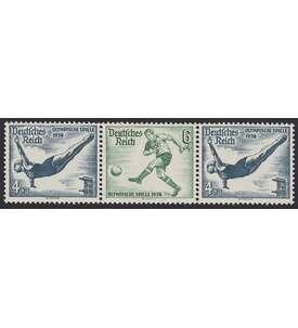 Deutsches Reich Zusammendruck W104 postfrisch ** Olympische Spiele 1936 (4+6+4) Briefmarke
