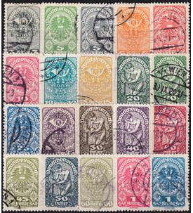 Österreich Nr. 255-274x gestempelt