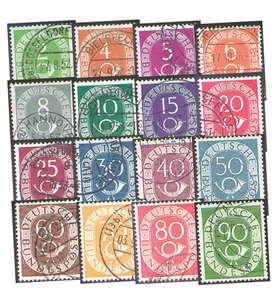 II BRD Nr. 123-138 gestempelt