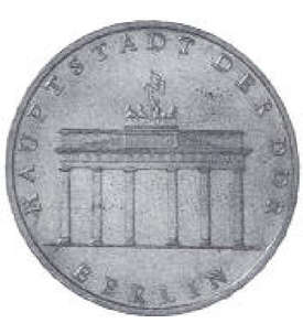 DDR-5 Mark 1971 A              Brandenburger Tor (J. 1536)