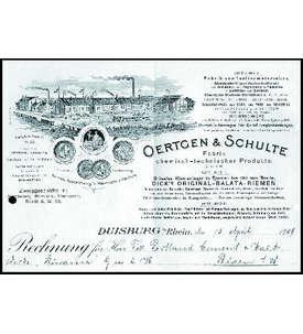 OERTGEN & SCHULTE Rechnung Briefmarke
