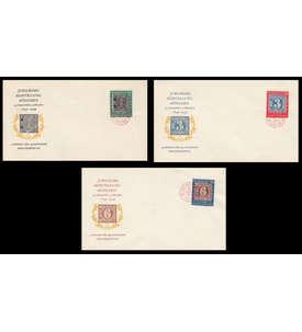 BRD Bund Nr. 113-115 auf FDC 3 Ersttagsbriefe mit roten Sonderstempeln Briefmarke