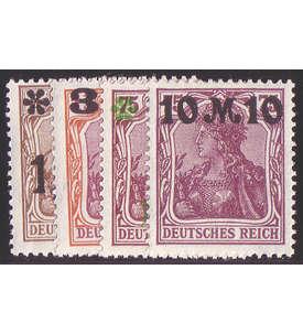 Deutsches Reich Nr. 154-157II