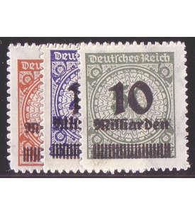 Deutsches Reich Nr. 334-336B