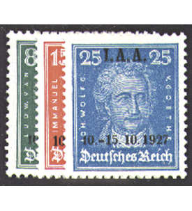Deutsches Reich Nr. 407-409 Internationales Arbeitsamt