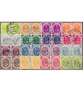 BRD Bund Nr. 123-138 Paarsatz gestempelt Briefmarke