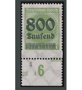 Deutsches Reich Nr. 304A Uu postfrisch ** Unterrand ungezähnt Briefmarke