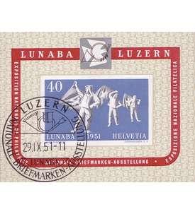 Schweiz Block 14 ESST LUNABA 1951 Briefmarke