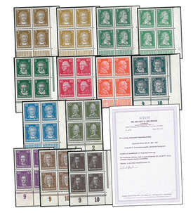 Deutsches Reich Nr. 385-397 postfrisch 4er-Blocksatz mit Fotoattest Dr. Oechsner Briefmarke