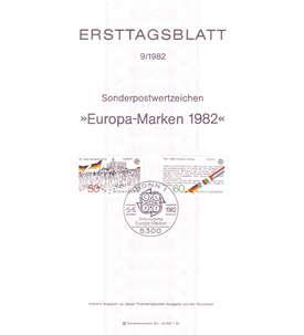 BRD Bund Ersttagsblatt 9/1982 auf dünnem Papier Briefmarke