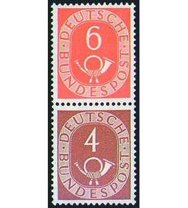 BRD Bund Zusammendruck S3 postfrisch ** Posthorn (6+4) Briefmarke