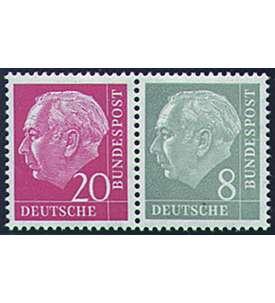 BRD Bund Zusammendruck W23Y postfrisch ** Heuss/Ziffer 1960 (20+8) Briefmarke