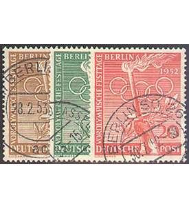 88-90 gestempelt Olympia 1952 Briefmarken f/ür Sammler Goldhahn Berlin Nr