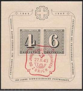 Schweiz Block 8 gestempelt