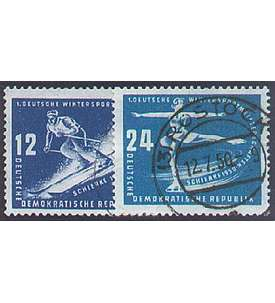 DDR Nr. 246-247 gestempelt Wintersport 1950