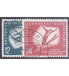 DDR Nr. 280-281 gestempelt Wintersport 1951