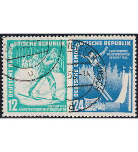 DDR Nr. 298-299 gestempelt Wintersport 1952