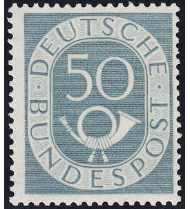 Brd Bund Nr 134 Postfrisch Geprüft 50 Pfennig Posthorn