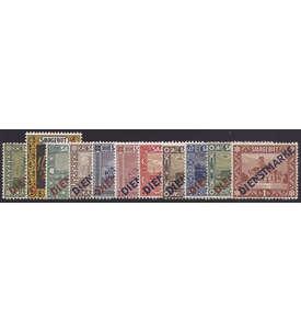 Saar Dienstmarken Nr. 1-11I+II